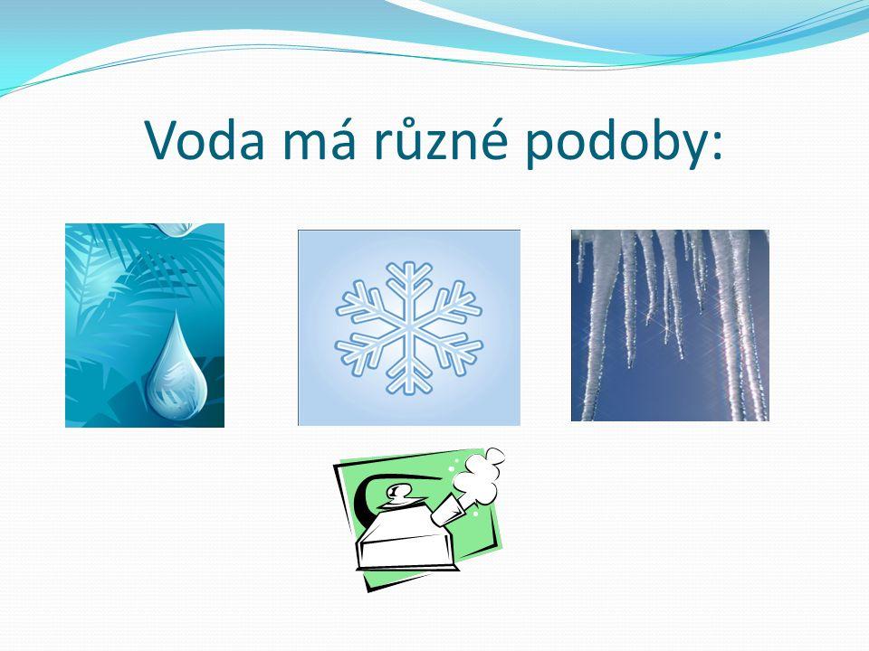 Voda má různé podoby: