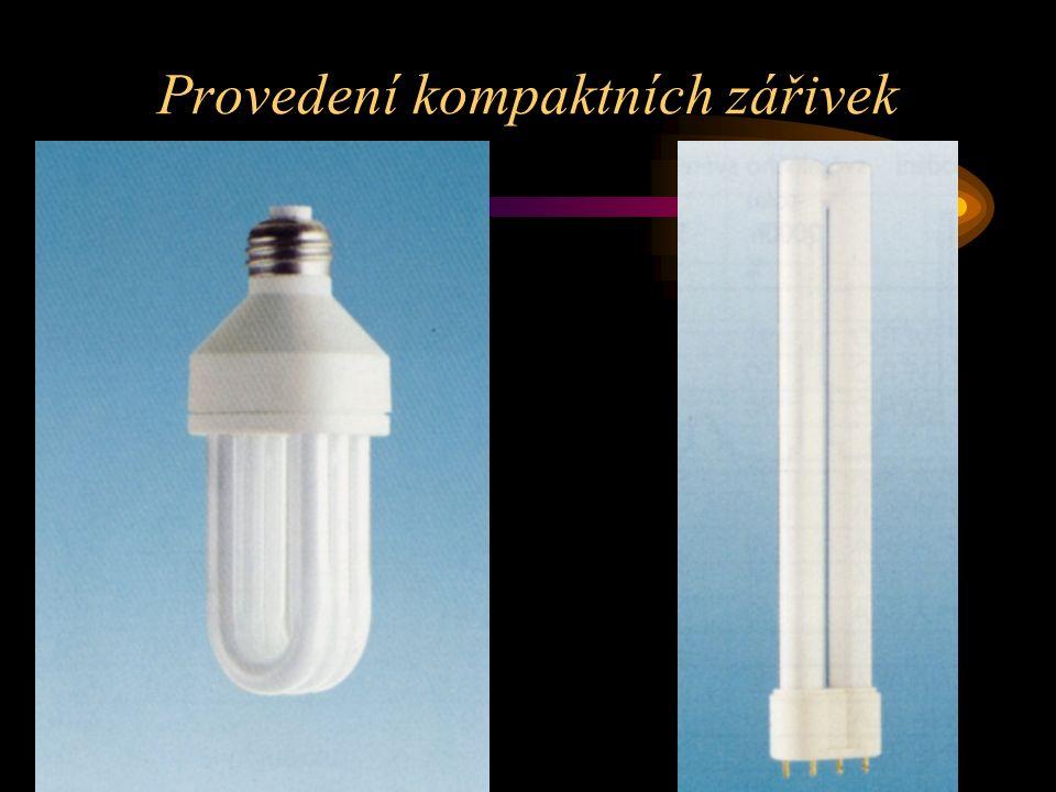 Provedení kompaktních zářivek