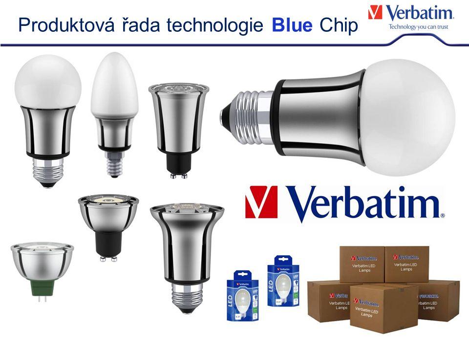 Verbatim Blue Chip LED - inovace: Temperature Control System (TCS) – Systém kontroly teploty Vestavěný systém kontroly teploty (Temperature Control System - TCS) chrání kriticky důležité elektronické komponenty v žárovce před přehřátím.