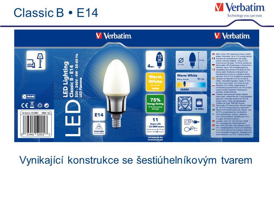Detaily produktu – E14 Candle Lamp Classic B E14 4W Vlastnosti produktu LED žárovka ve standardním tvaru svíce jako náhrada za 15W žárovku Stmívatelná Úspora energie až 75 % Spotřeba4W Napětí220-240V Provozní frekvence50-60Hz Barva světlaTeplá bílá - 2800K CRI>80 Světelný tok90lm Životnost25 000 hodin= 11 let* *při provozu 6 hodin denně Číslo produktu52002 Počet kusů v kartonu6