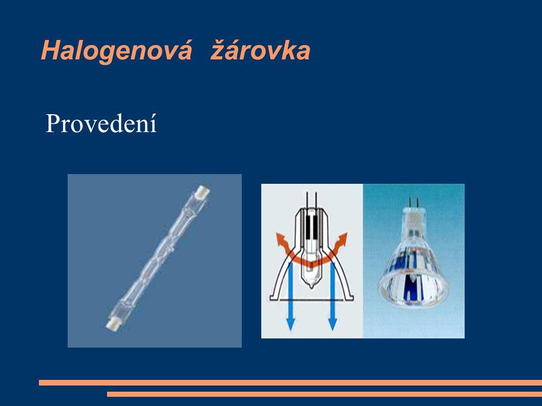 Halogenová žárovka Provedení