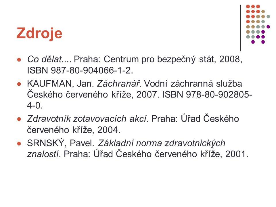 Zdroje Co dělat.... Praha: Centrum pro bezpečný stát, 2008, ISBN 987-80-904066-1-2.