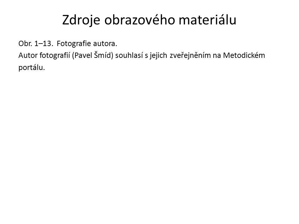 Zdroje obrazového materiálu Obr. 1–13. Fotografie autora.