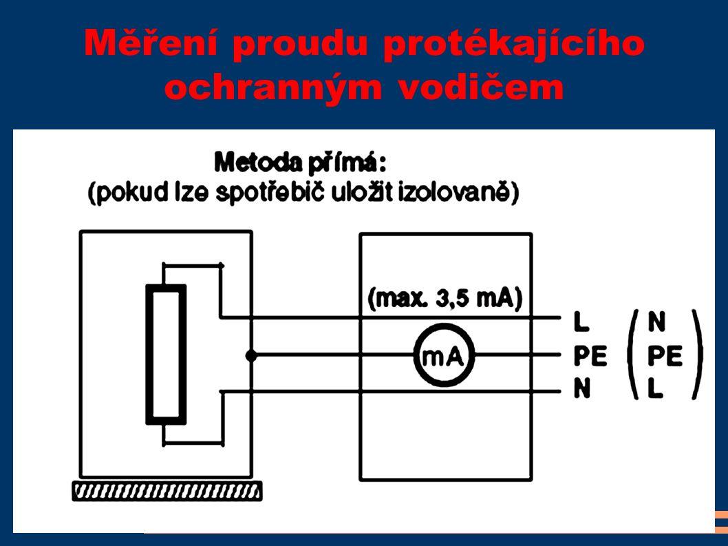 Měření proudu protékajícího ochranným vodičem