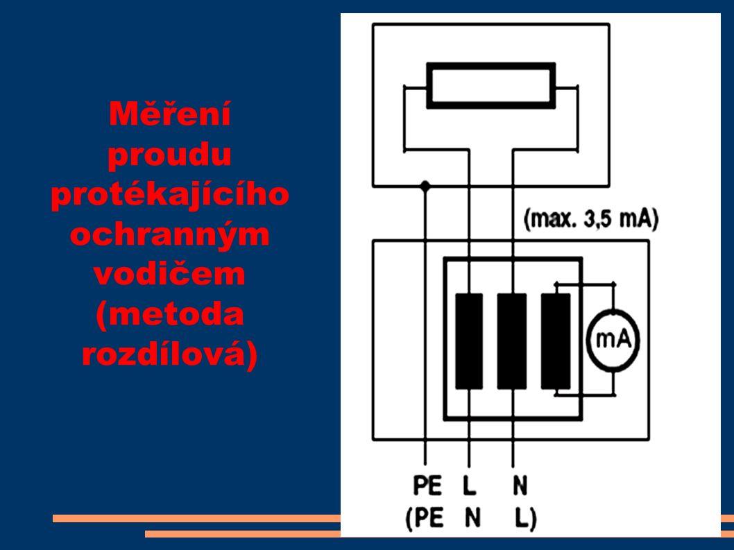 Měření proudu protékajícího ochranným vodičem (metoda rozdílová)