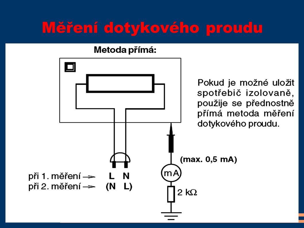 Měření dotykového proudu