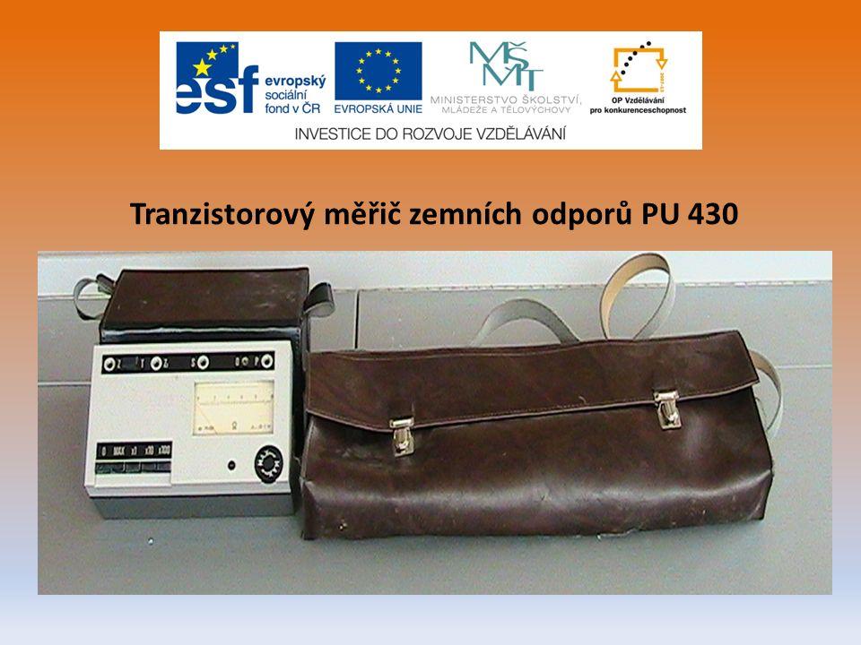 Tranzistorový měřič zemních odporů PU 430
