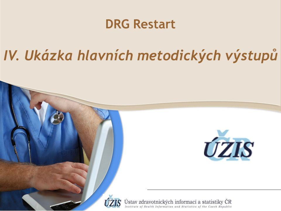 DRG Restart IV. Ukázka hlavních metodických výstupů