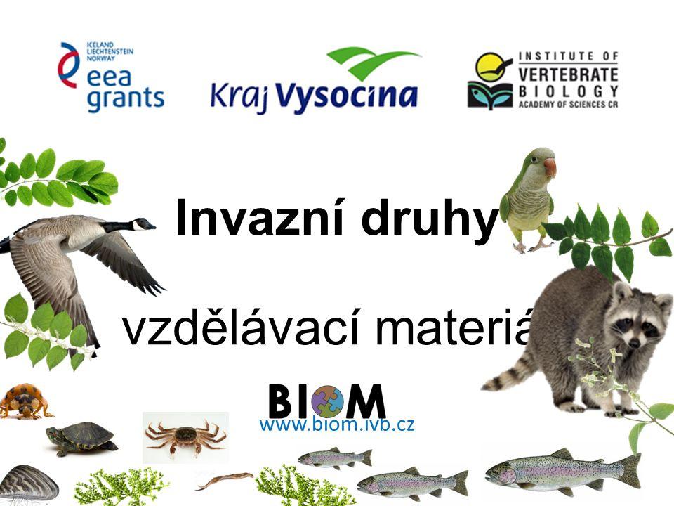 Invazní druhy vzdělávací materiál www.biom.ivb.cz