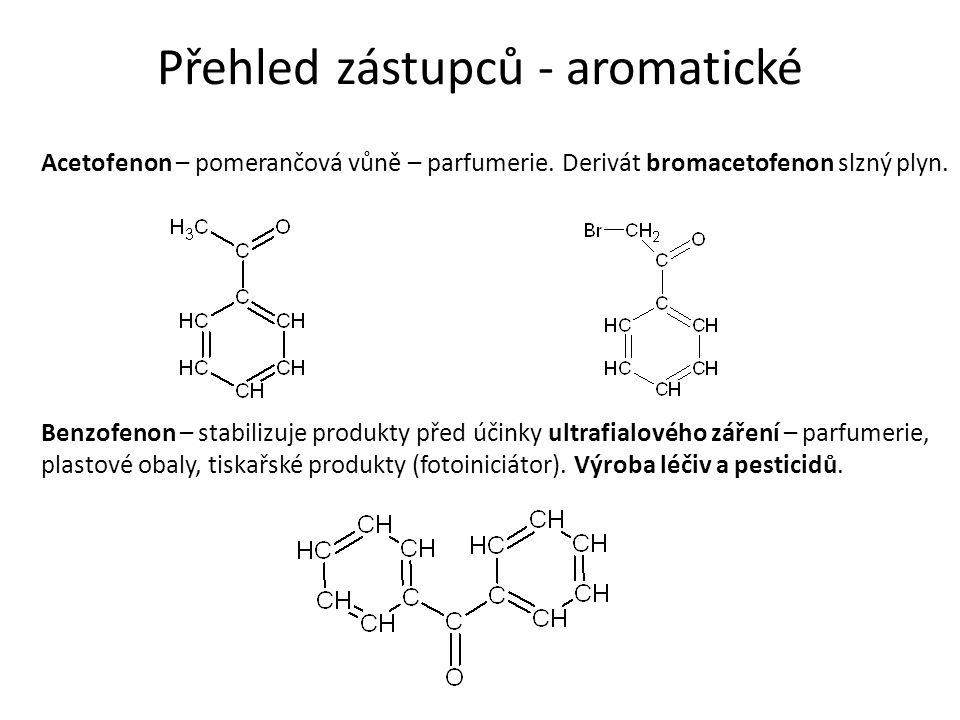 Přehled zástupců - aromatické Acetofenon – pomerančová vůně – parfumerie.