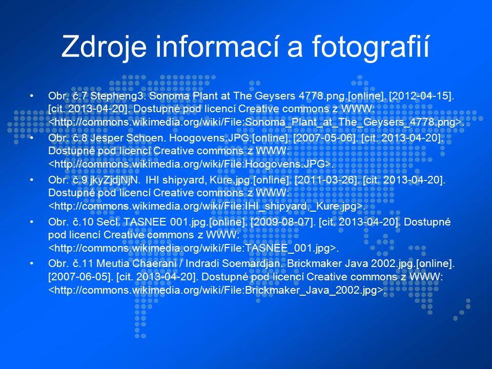 Zdroje informací a fotografií Obr. č.7 Stepheng3.