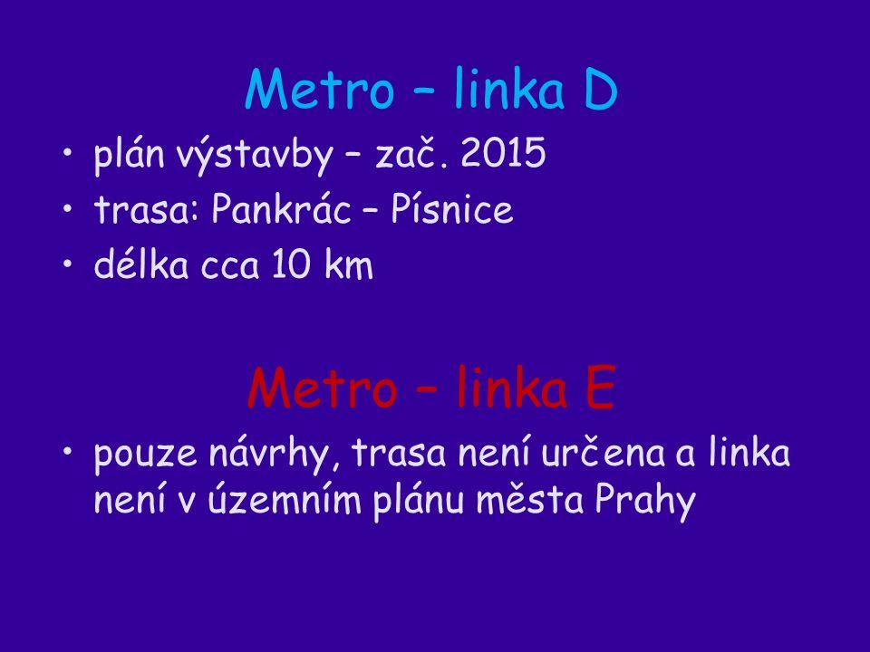 Metro – linka D plán výstavby – zač.