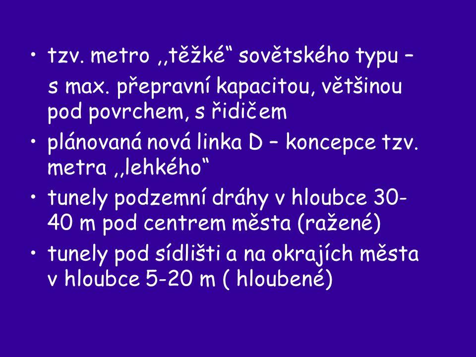 tzv. metro,,těžké sovětského typu – s max.