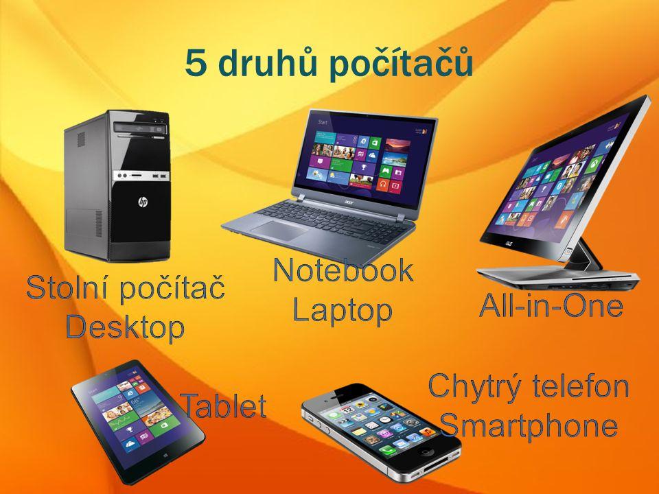 5 druhů počítačů