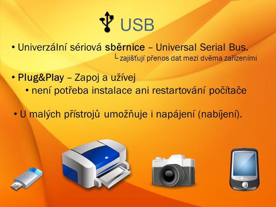 Univerzální sériová sběrnice – Universal Serial Bus.