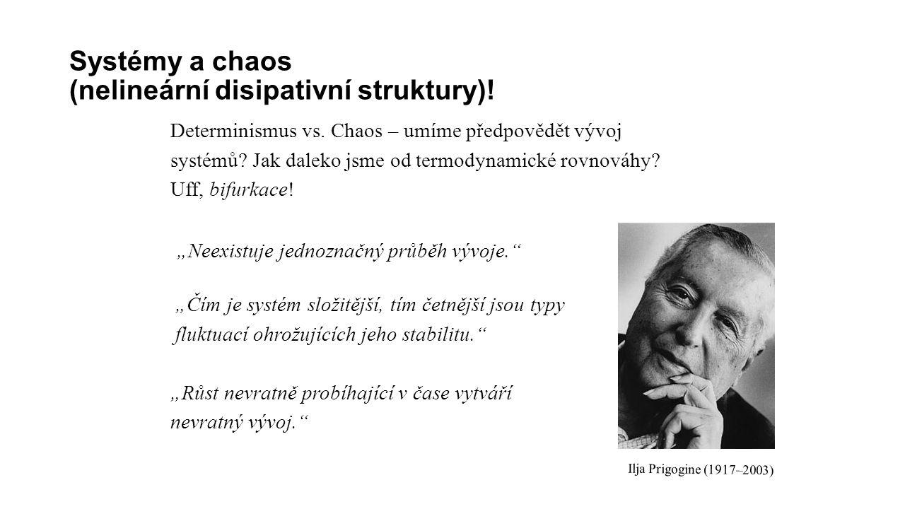 Systémy a chaos (nelineární disipativní struktury).