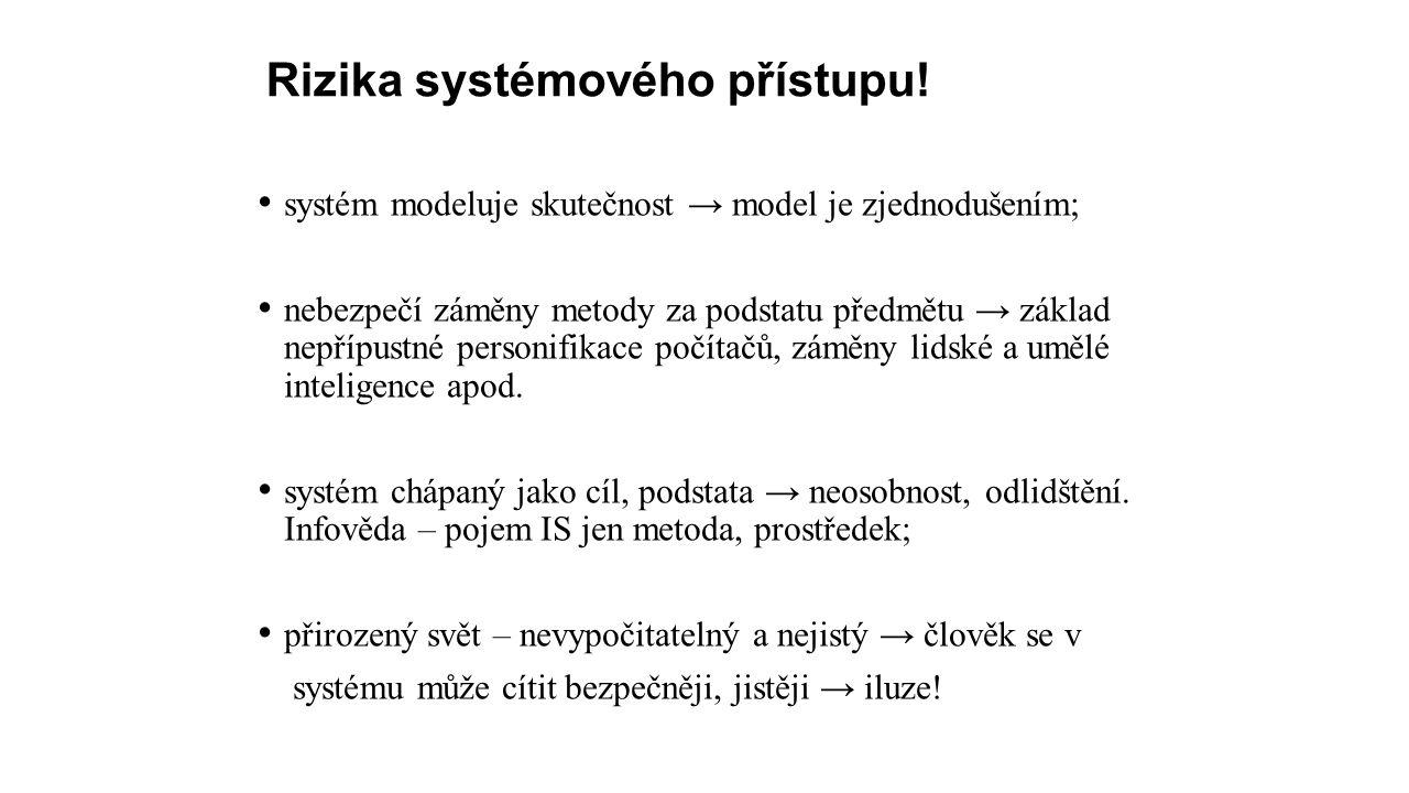 Rizika systémového přístupu.