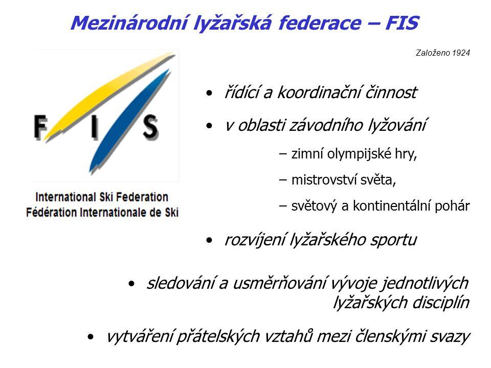 Mezinárodní sdružení pro komerční, spolkové a školní lyžování Založeno 1951 Mezinárodní sdružení pro výuku lyžování