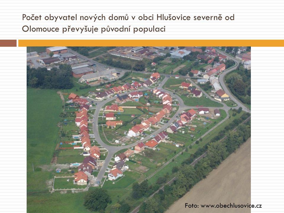 Počet obyvatel nových domů v obci Hlušovice severně od Olomouce převyšuje původní populaci Foto: www.obechlusovice.cz