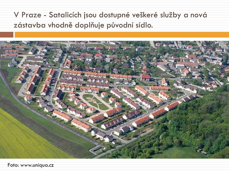 V Praze - Satalicích jsou dostupné veškeré služby a nová zástavba vhodně doplňuje původní sídlo.