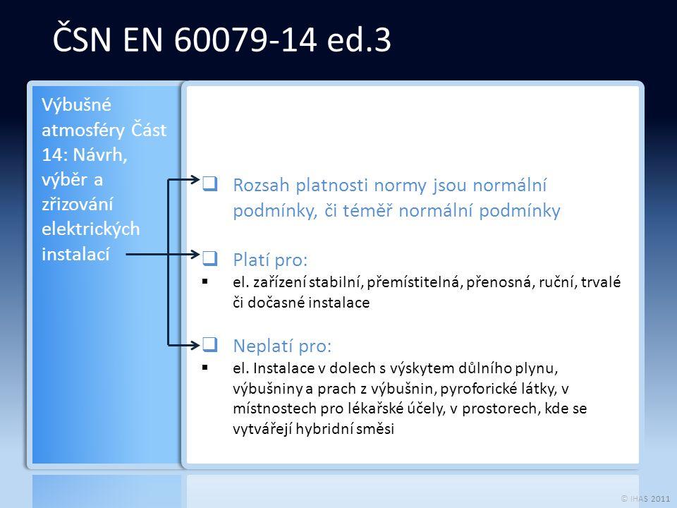 © IHAS 2011  Vztah mezi úrovněmi ochrany zařízení (EPL) a zónami (viz.