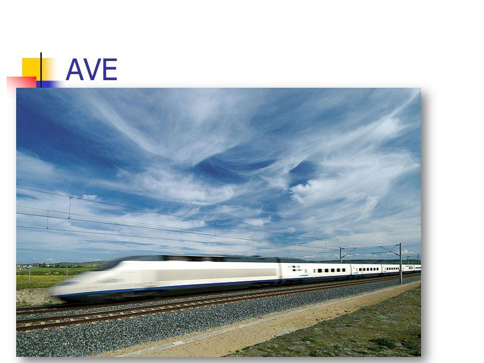 """AVE španělský rychlovlak zkratka z """"Alta Velocidad Española 15)"""