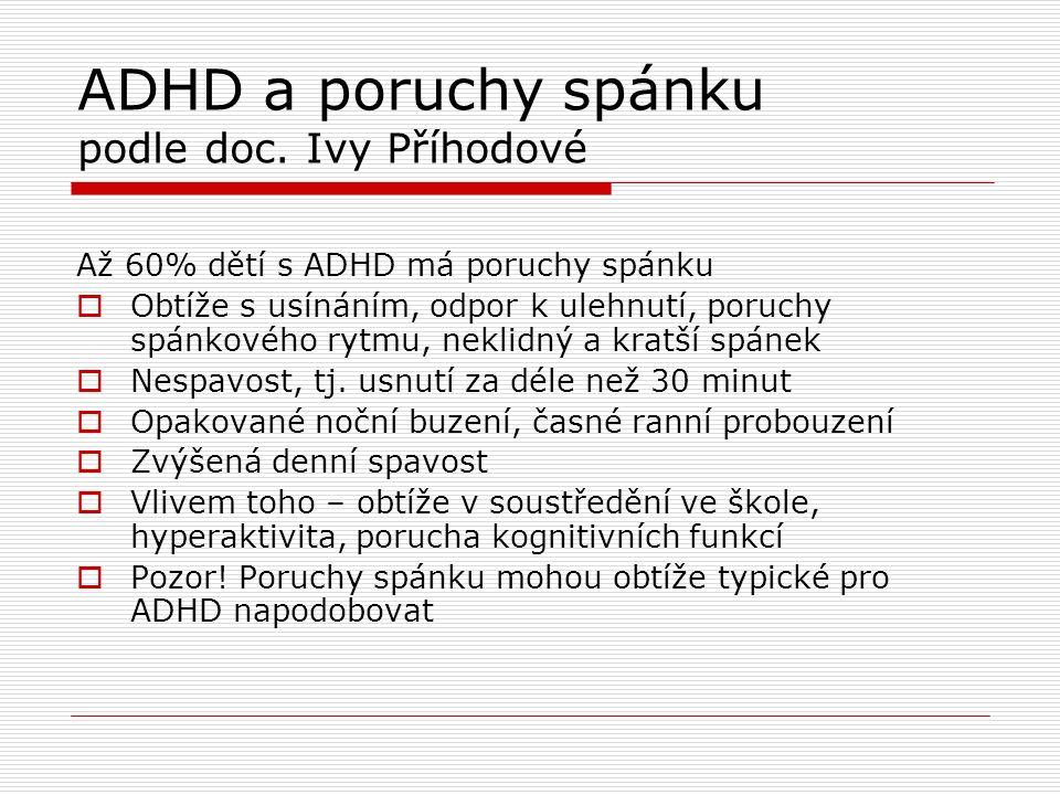 ADHD a poruchy spánku podle doc.