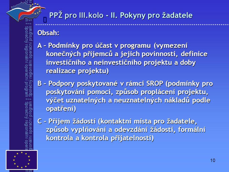 10 PPŽ pro III.kolo - II.