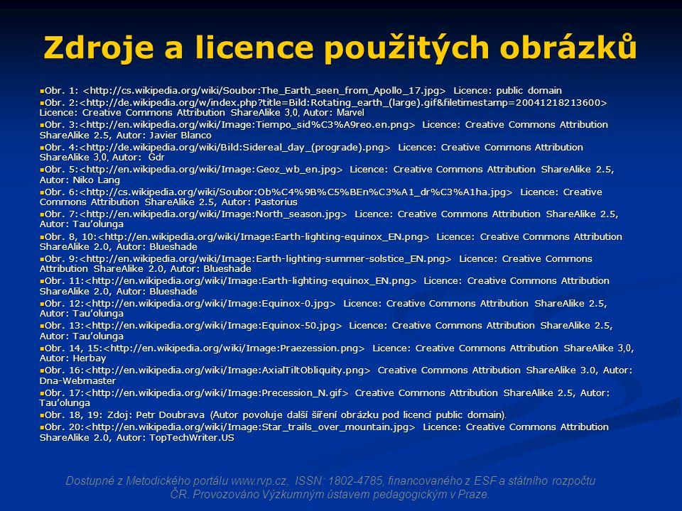 Zdroje a licence použitých obrázků Obr. 1: Licence: public domain Obr.