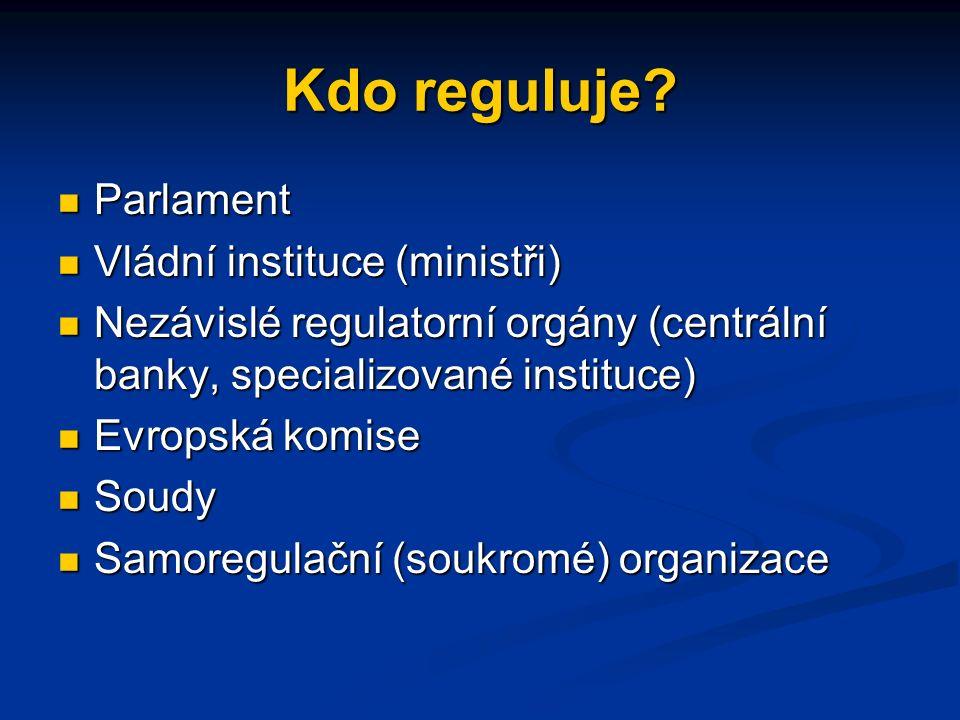 Kdo reguluje.