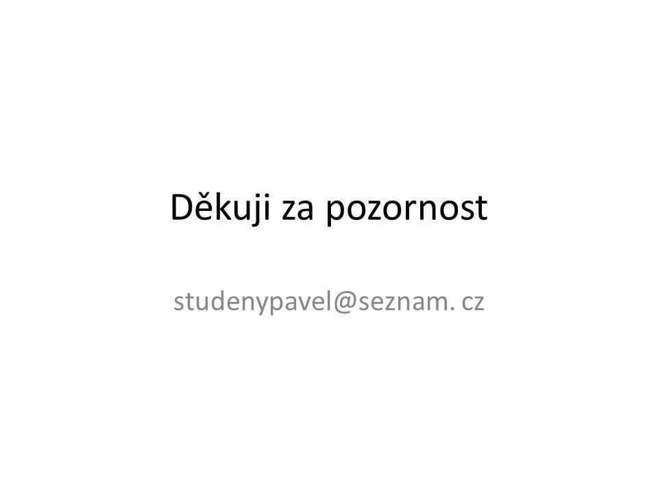 Děkuji za pozornost studenypavel@seznam. cz