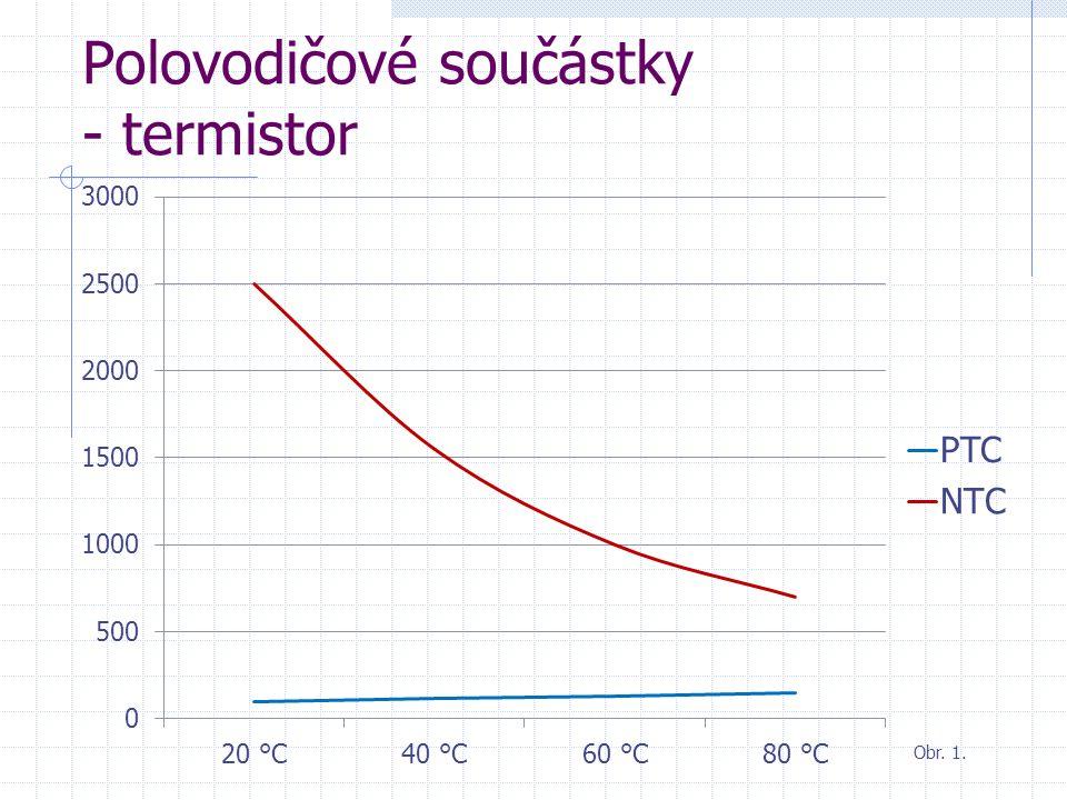 Polovodičové součástky - termistor Obr. 1.
