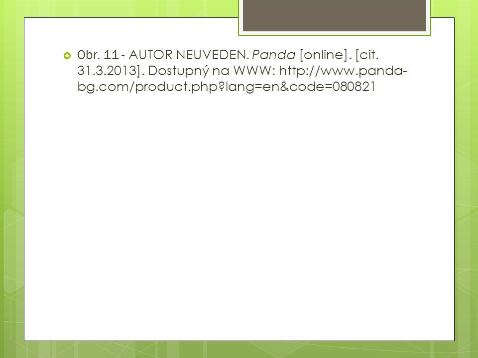  Obr.11 - AUTOR NEUVEDEN. Panda [online]. [cit. 31.3.2013].