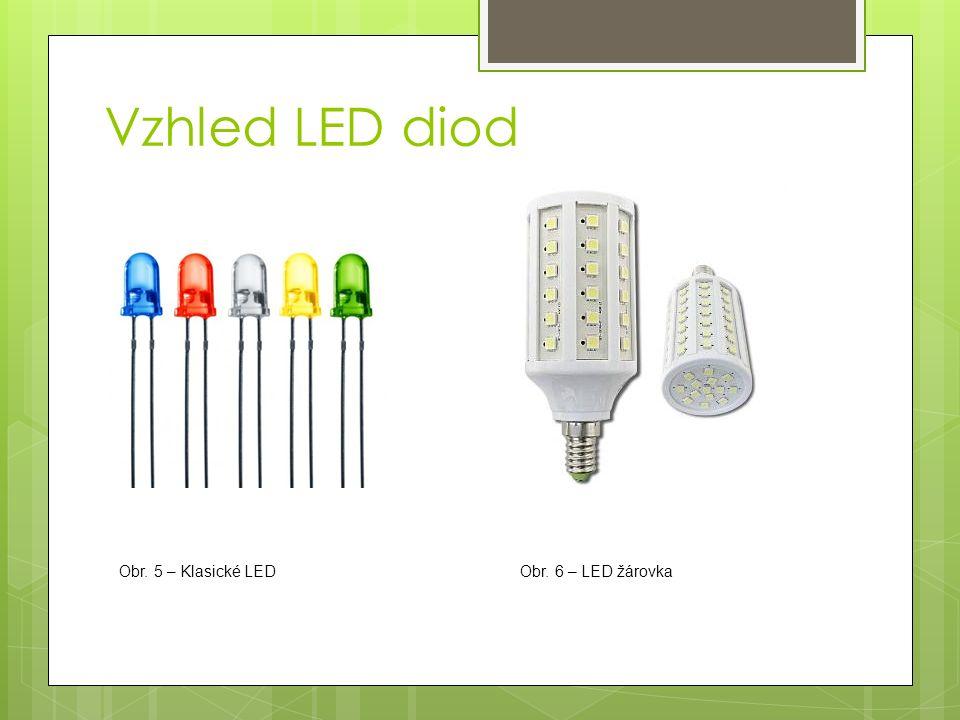 Vzhled LED diod Obr. 5 – Klasické LEDObr. 6 – LED žárovka