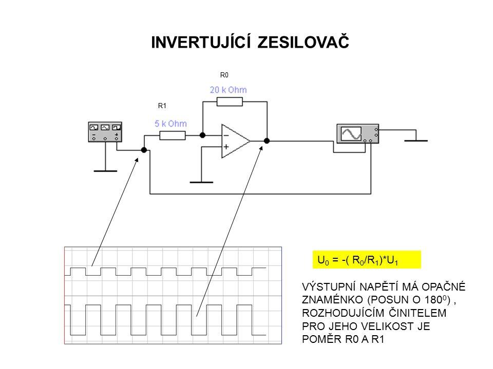 Neinvertující zapojení operačního zesilovače: