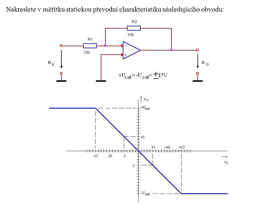 Příklad zapojení klopného obvodu s OZ Jako příklad zapojení klopného obvodu s OZ si zde uvedeme jedno z možných zapojení astabilního klopného obvodu (AKO), viz následující obrázek.