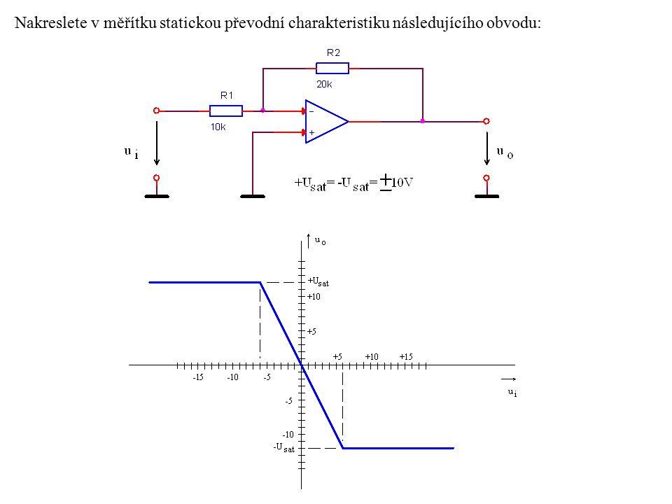Velikost hystereze h je určena součástkami R1 a R2.