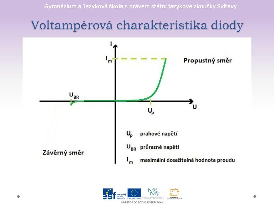 Gymnázium a Jazyková škola s právem státní jazykové zkoušky Svitavy Voltampérová charakteristika diody