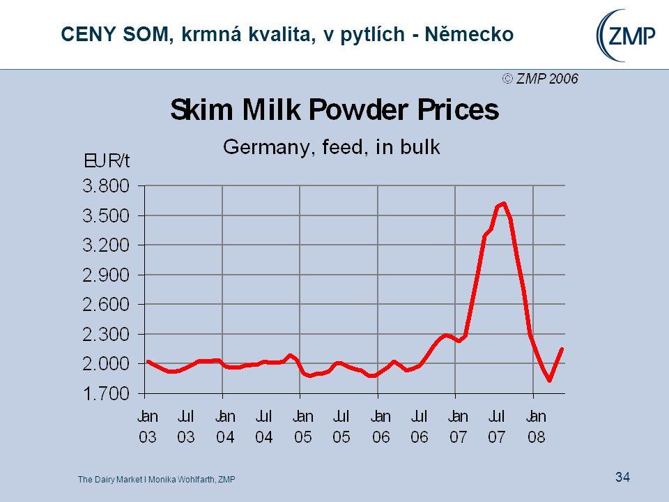 The Dairy Market l Monika Wohlfarth, ZMP 34 CENY SOM, krmná kvalita, v pytlích - Německo
