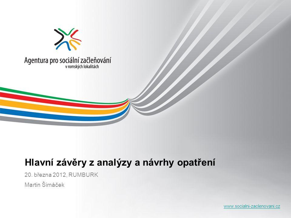 www.socialni-zaclenovani.cz Hlavní závěry z analýzy a návrhy opatření 20. března 2012, RUMBURK Martin Šimáček