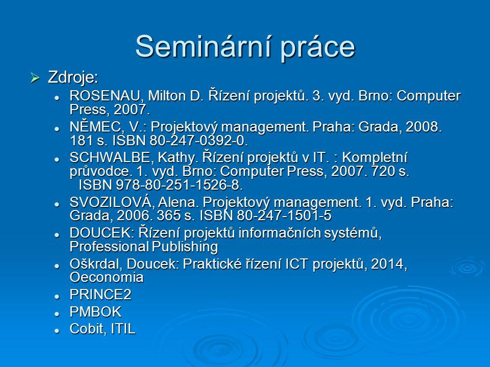 Úvod do řízení projektů 1.Projektové řízení a systémové teorie 2.