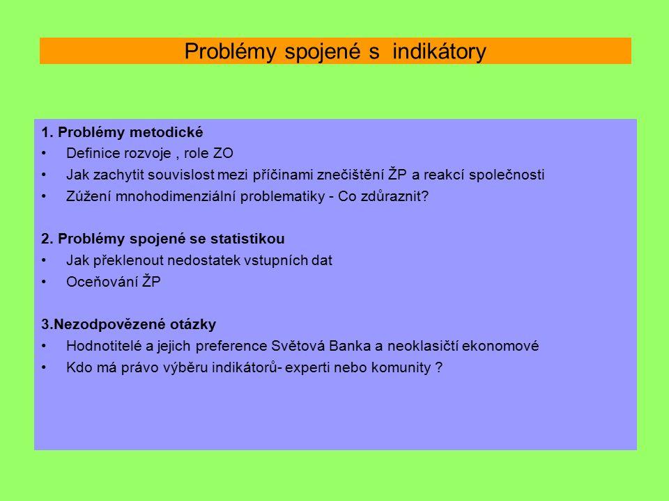 Problémy spojené s indikátory 1.