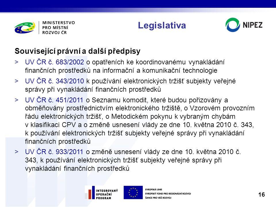 Legislativa Související právní a další předpisy >UV ČR č. 683/2002 o opatřeních ke koordinovanému vynakládání finančních prostředků na informační a ko