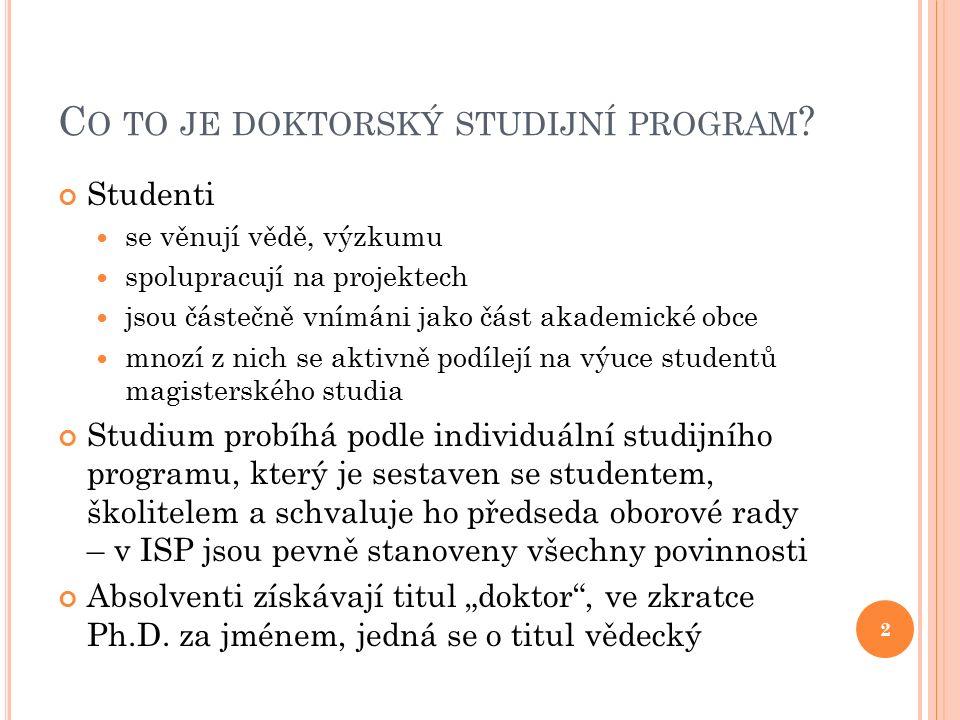 O BSAH 1.Akreditované studijní programy 2. Doba a forma studia 3.