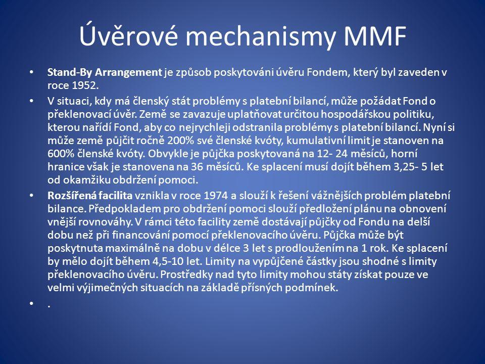 Úvěrové mechanismy MMF Stand-By Arrangement je způsob poskytováni úvěru Fondem, který byl zaveden v roce 1952.