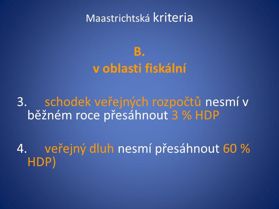 Maastrichtská kriteria B.