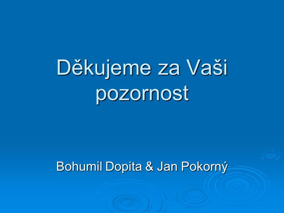 Děkujeme za Vaši pozornost Bohumil Dopita & Jan Pokorný
