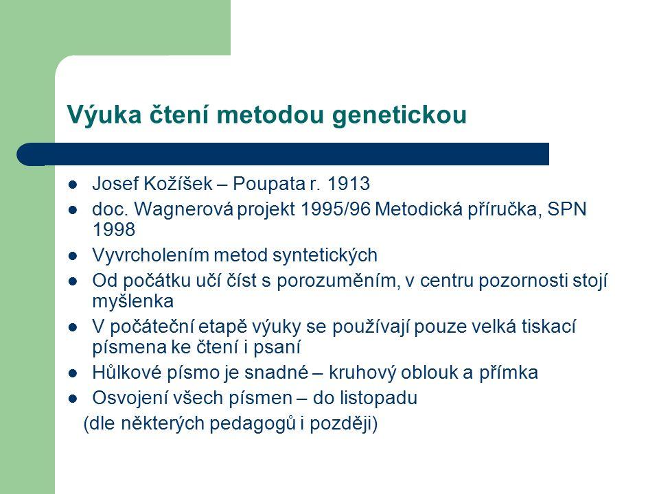 Výuka čtení metodou genetickou Josef Kožíšek – Poupata r.