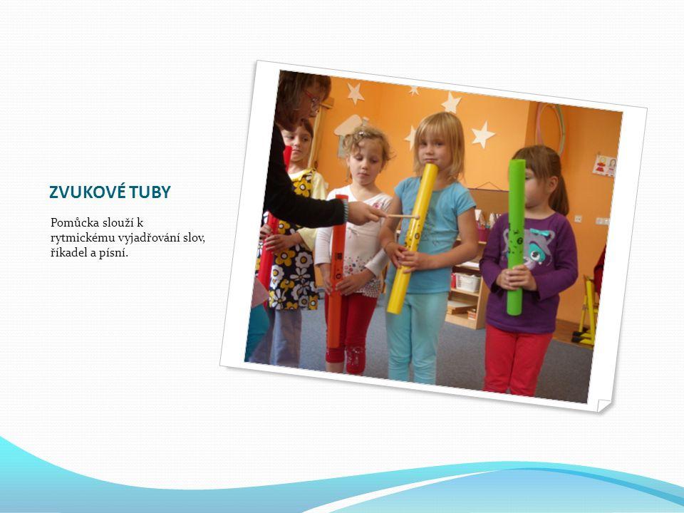 ZVUKOVÉ TUBY Pomůcka slouží k rytmickému vyjadřování slov, říkadel a písní.