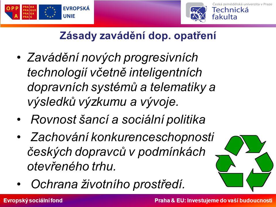 Evropský sociální fond Praha & EU: Investujeme do vaší budoucnosti Zásady zavádění dop.